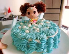 给朋友女儿做了个蛋糕,给老公做好单人晚餐后带着蛋糕出发咯[图]