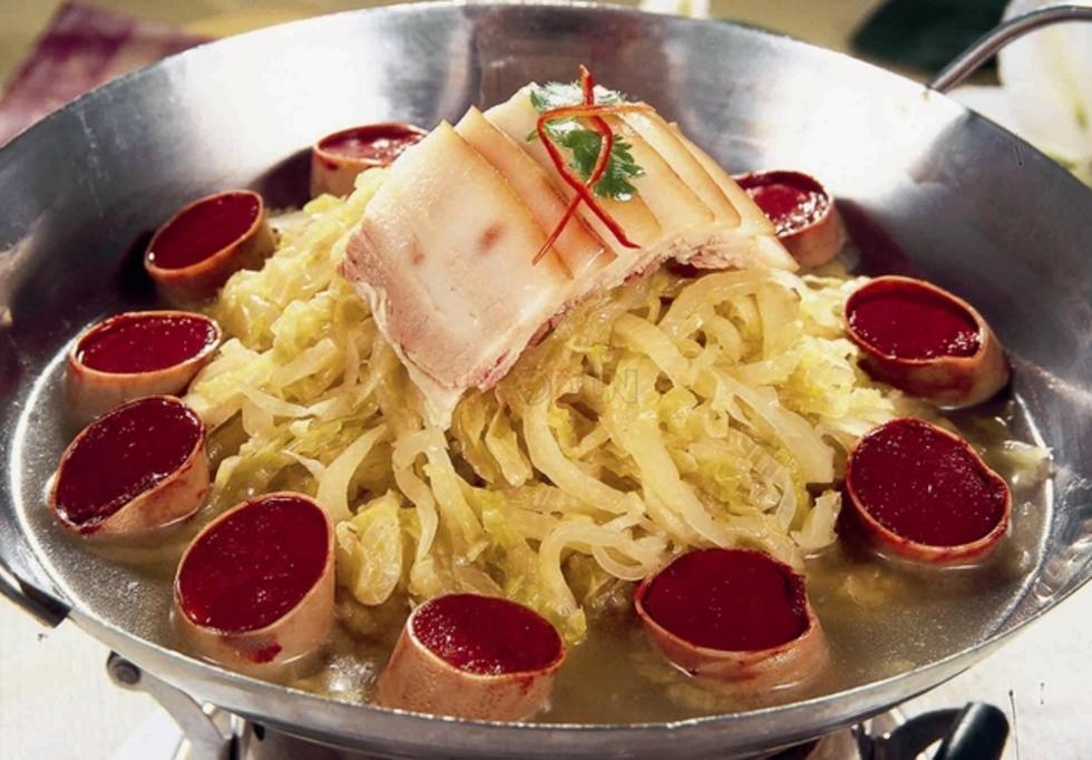 白肉酸菜血肠
