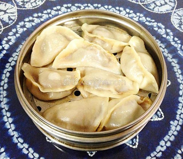荞面驴肉蒸饺