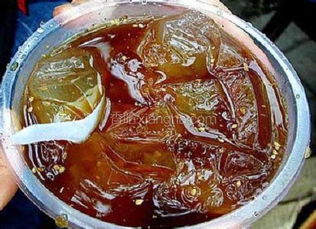 糖醋芝麻冰凉粉