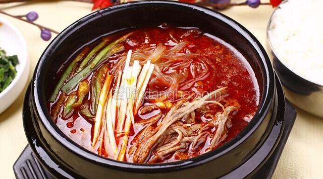 辣牛肉粉条汤